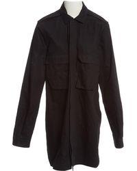 Rick Owens - Black Cotton Coat - Lyst