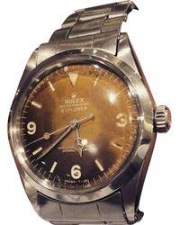 Rolex - Pre-owned Vintage Explorer 39mm Brown Steel Watches - Lyst
