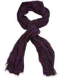 Louis Vuitton - Pre-owned Purple Cashmere Scarves - Lyst