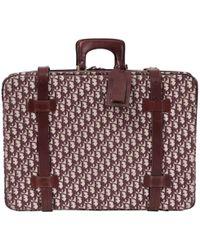 Dior - Pre-owned Vintage Burgundy Cloth Travel Bag - Lyst