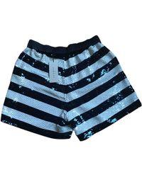 Sandro - Blue Glitter Shorts - Lyst