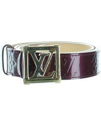 dfef1d4c94a9 Lyst - Louis Vuitton Pre-owned Goatskin Leather Waist Belt in Blue