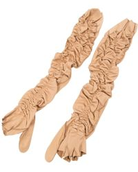 Louis Vuitton - Leather Mittens - Lyst