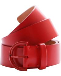 Louis Vuitton - Red Leather Belts - Lyst