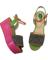Etro - Leather Sandals - Lyst