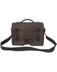 Louis Vuitton - 100% Authentic Brown Damier Ebene Broadway Briefcase Shoulder Bag - Lyst