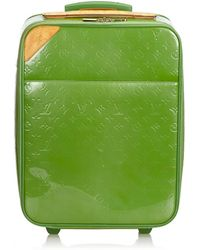 Louis Vuitton - Pre-owned Green Patent Leather Travel Bags - Lyst
