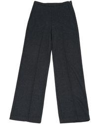 Max Mara - Grey Wool Trousers - Lyst