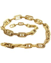 Hermès - Pre-owned Vendome Gold Yellow Gold Necklaces - Lyst