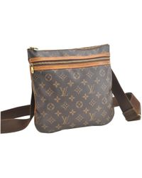 Louis Vuitton - Bosphore Brown Cloth Bag - Lyst