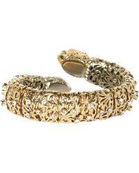 Roberto Cavalli - Gold Metal Bracelet - Lyst