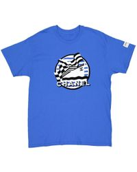 Chanel - Pre-owned Blue Cotton T-shirts - Lyst
