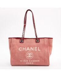 Chanel - Borse a mano Deauville Rosa - Lyst