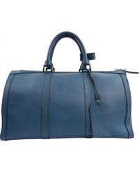 Burberry - Blue Leather Bag - Lyst