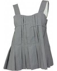 Marni - Grey Cotton Top - Lyst