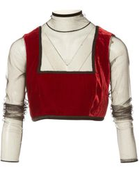 Jean Paul Gaultier - Pre-owned Vintage Red Viscose Knitwear - Lyst