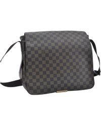 29255891b1 Louis Vuitton - Pre-owned District Brown Cloth Bags - Lyst