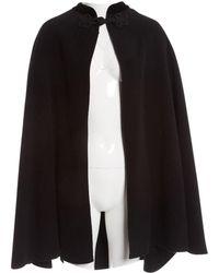 Oscar de la Renta Black Wool