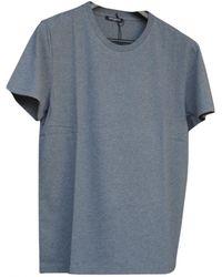 Balmain - Grey Cotton T-shirt - Lyst
