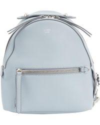 Fendi - Blue Leather Backpacks - Lyst