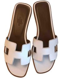 Hermès - Pre-owned Leather Mules - Lyst