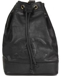 Chanel - Pre-owned Vintage Timeless/classique Black Leather Backpacks - Lyst