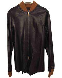 Loewe - Leather Jacket - Lyst