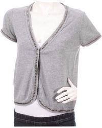 Zadig & Voltaire - Grey Cotton Knitwear - Lyst