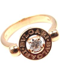 bvlgari pink gold ring lyst