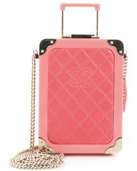 Chanel - Trolley Minaudiere Plexiglass And Quilted Lambskin - Lyst