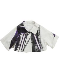 Chloé - Short, Embossed, White And Purple Jacket - Lyst