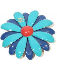 Chanel - Camélia Blue Metal Pins & Brooches - Lyst