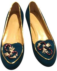 Charlotte Olympia - Leather Flats - Lyst