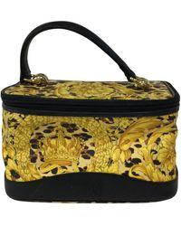 Versace Yellow Cloth Travel Bag