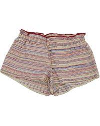Maje - Multicolour Cotton Shorts - Lyst