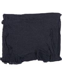 Balmain - Blue Linen Scarves & Pocket Squares - Lyst