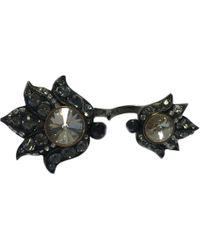 Lanvin - Anthracite Metal Ring - Lyst