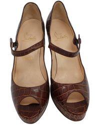 Pre-owned - Brown Exotic leathers Heels Christian Louboutin toRXv9KLIk