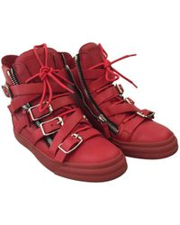 Giuseppe Zanotti - Red Leather Trainers - Lyst