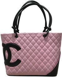 6c855287bf9f Lyst - Chanel Cambon Line Medium Tote Bag Calfskin Beige / Black A ...