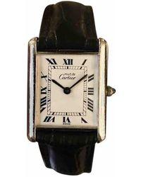 Cartier - Tank Solo Silver Watch - Lyst