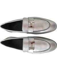 Hermès - Leather Flats - Lyst