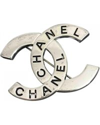 Chanel - Vintage Silver Metal Pins & Brooches - Lyst