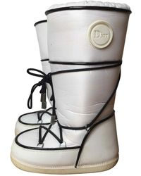 Dior - Pre-owned White Cloth Boots - Lyst