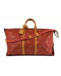 Lyst - Cartable en cuir Louis Vuitton pour homme en coloris Rouge c83deec3531