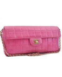 1279361cf52c Chanel - Vintage East West Chocolate Bar Pink Leather Handbag - Lyst