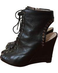 Marc By Marc Jacobs - Pre-owned Black Leather Ankle Boots - Lyst
