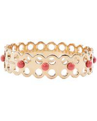 ac432afc8e31b Lyst - Louis Vuitton Pink Leather Confidential Bracelet