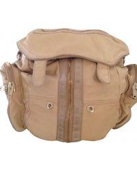 Alexander Wang - Beige Leather Backpack - Lyst