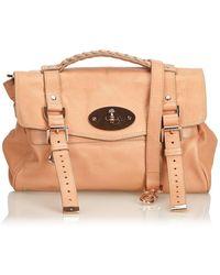 2b7a73440598 Mulberry - Alexa Pink Leather Handbag - Lyst